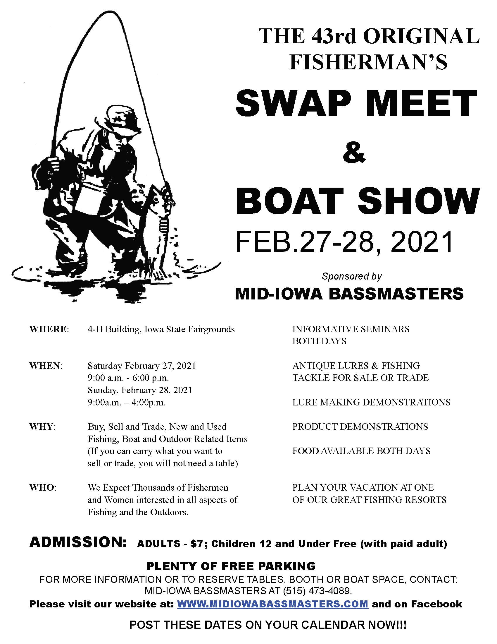 The 2021 Swap Meet will be held on February 27