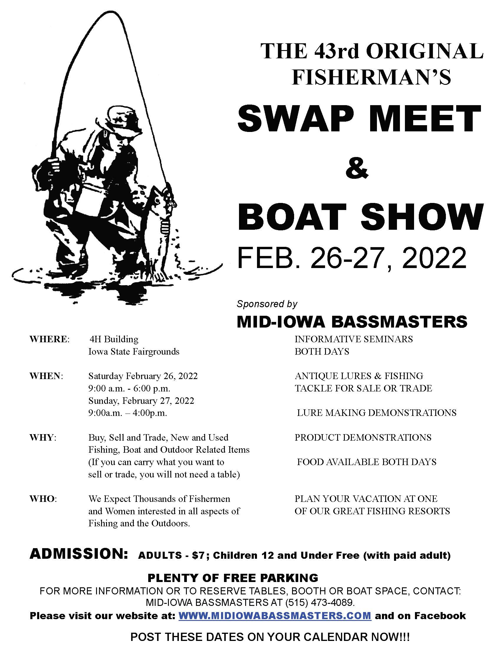 The 2022 Swap Meet will be held on February 26th & 27th, 2022. Here is some info for this year's swap meet; info for next year will be posted as it becomes available.
